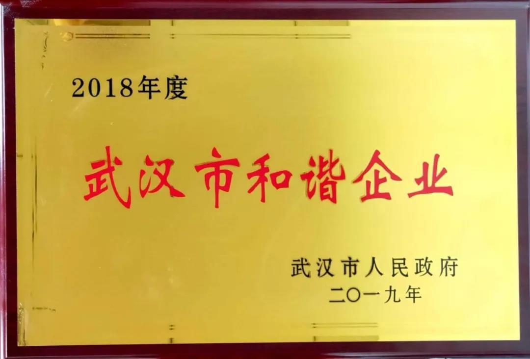 中百新晨公司被授予武汉市和谐企业称号...